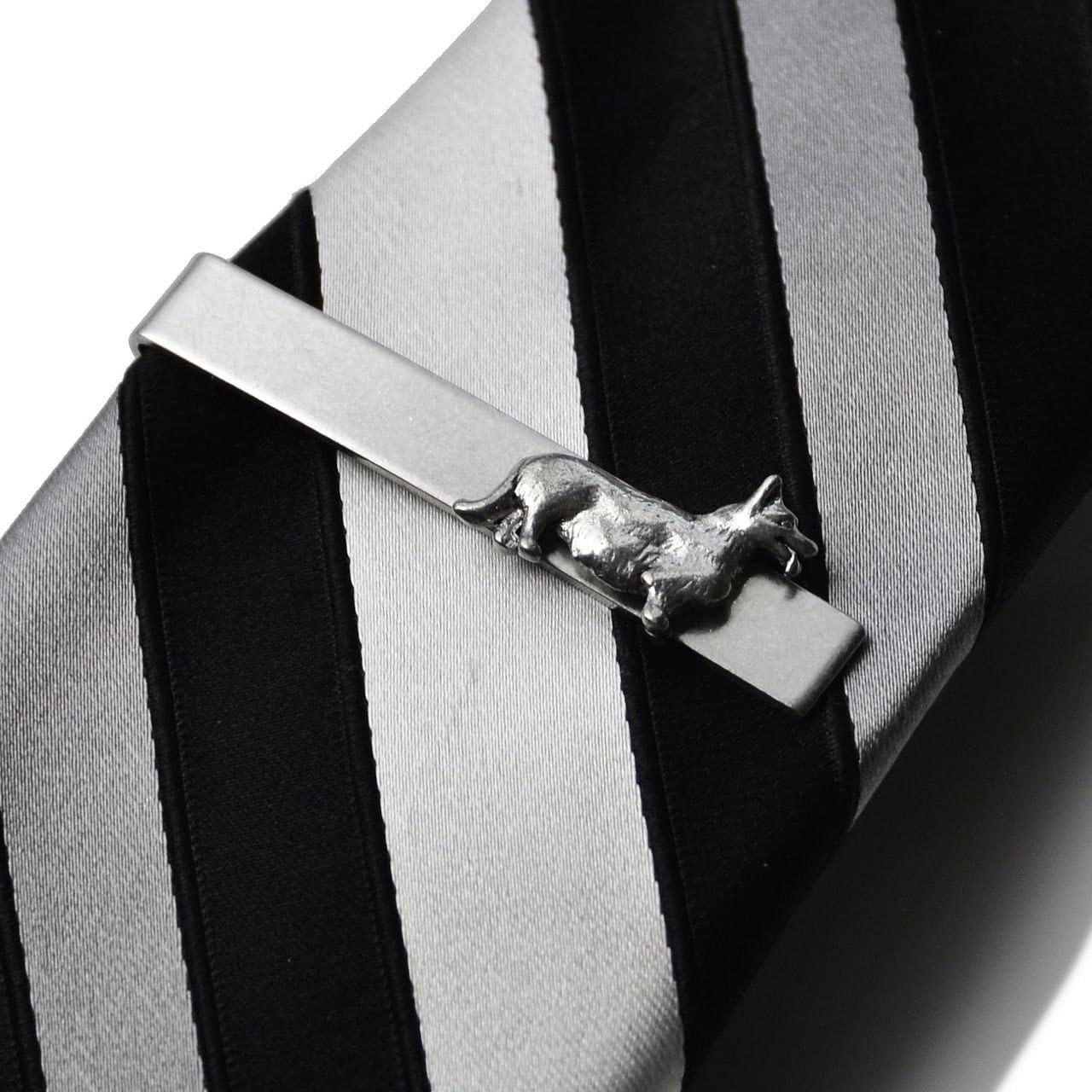 Quality Handcrafts Guaranteed Fleur de Lis Tie Clip