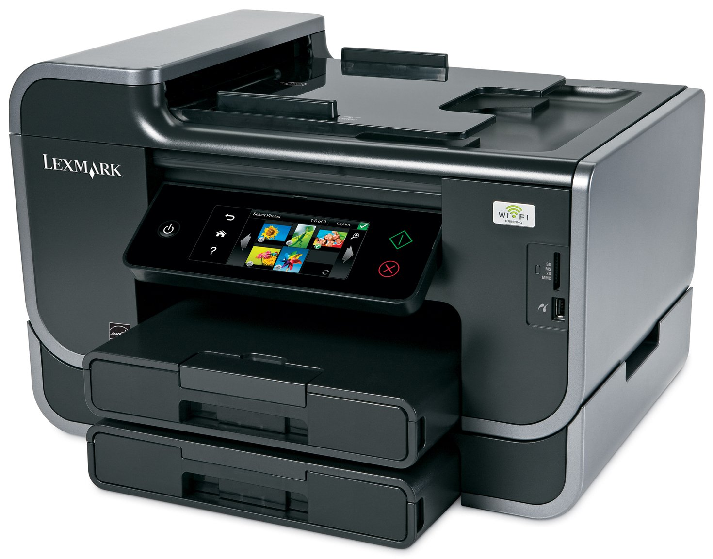 Lexmark Platinum Pro905 Business Class Wireless Multifunction Inkjet Printer with Web-Enabled Touchscreen by Lexmark (Image #1)