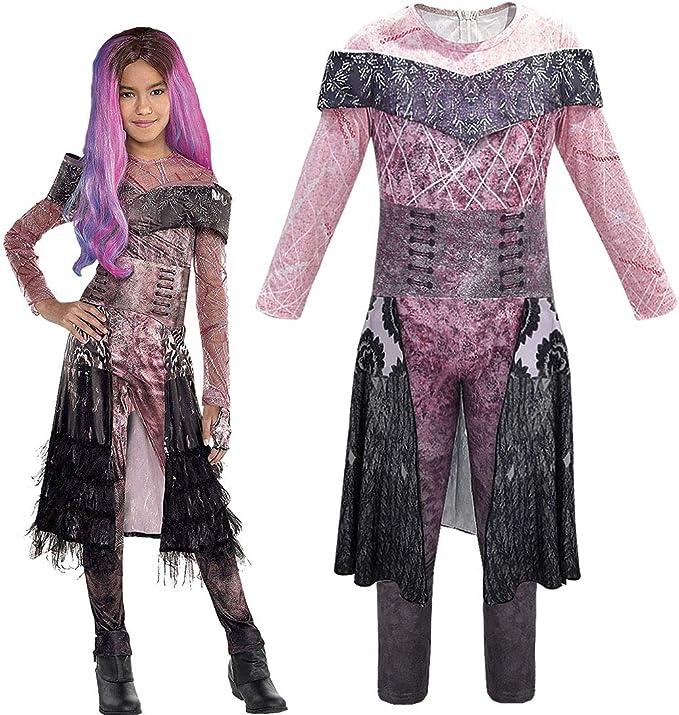 Mädchen Kinder Descendants 3 Audrey Cosplay Kostüm Faschings Karneval Jumpsuit