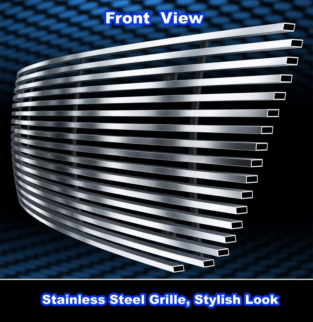 APS Compatible with 99-03 Ford F150//Lightning//Harley Davidson Stainless Steel Billet Grille F65713S