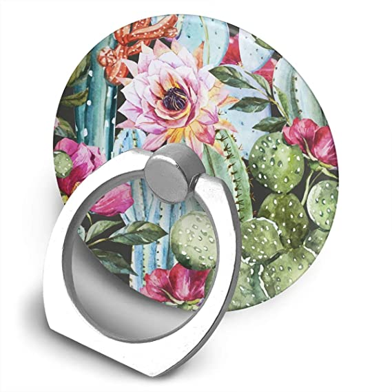 Car Accessories Round Finger Ring Cell Phone Holder Succulents Plant 360 Degree Rotating Stand Grip Mounts Accessories