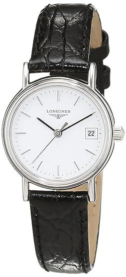 Longines - Reloj de pulsera analógico para mujer cuarzo piel l42204122: Amazon.es: Relojes
