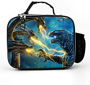 King Of The Monster Godzilla Reusable Sandwich Bags Lunch Bag Reusable Storage Bags Snack Bags Leakproof Freezer Bags for Food Storage Home Organization Container for Boys Girls Teens Women