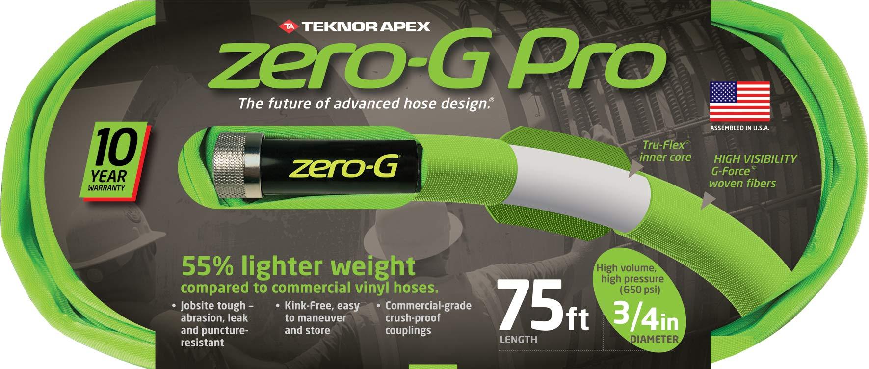 zero-G 4300-75, zeroG, Pro Garden Hose, 3/4'' x 75', Green
