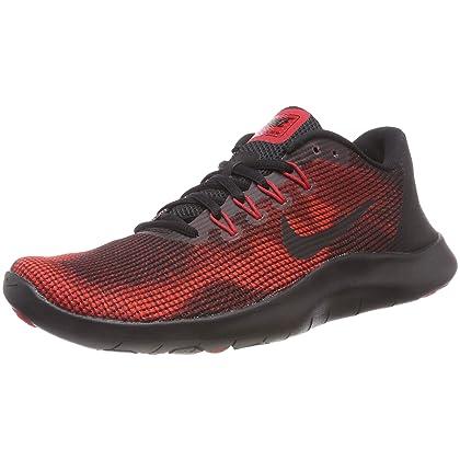82579b7d8060 NIKE Men s Flex RN 2018 Running Shoe Black University Red Team Red Size 15  M US