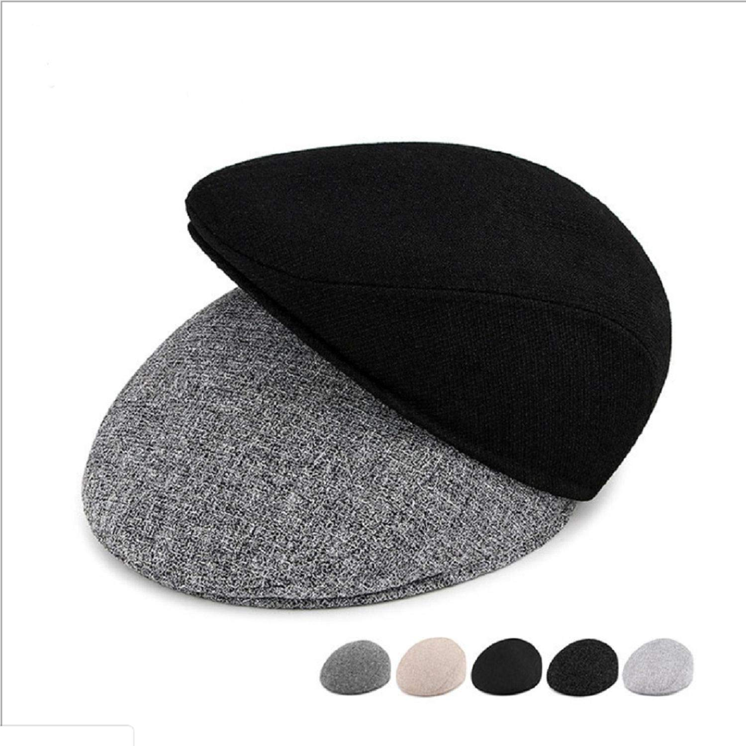 Summer Beret Caps Men Women Cabbie Gatsby Linen Outdoor Hats Vintage News Boy Sun Hat Unisex Duckbill