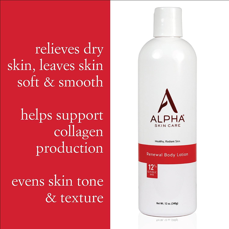 Alpha Skin Care Renewal Body Lotion  AntiAging Formula 12 Glycolic Alpha Hydroxy Acid AHA  Reduces