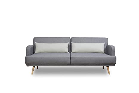 Super Leader Lifestyle Dante Sofa Bed In Aston Grey Fabric With Short Links Chair Design For Home Short Linksinfo