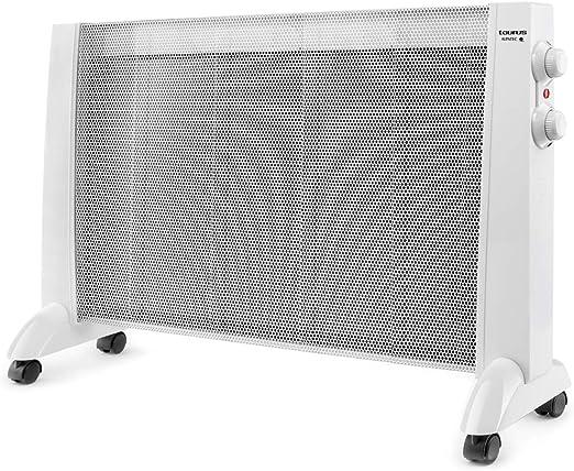 Taurus PRMB 2400 2400-Radiador de Mica, W, 3 temperaturas, termostato Regulable, Ruedas, protección Anti Calentamiento, silencioso, Blanco, Acero: Amazon.es: Hogar