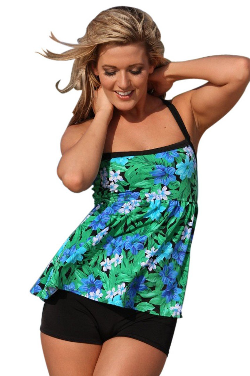 Ujena Spa Botanico Tankini Plus Swim Dress - Top, Bottom or Set by UjENA (Image #1)