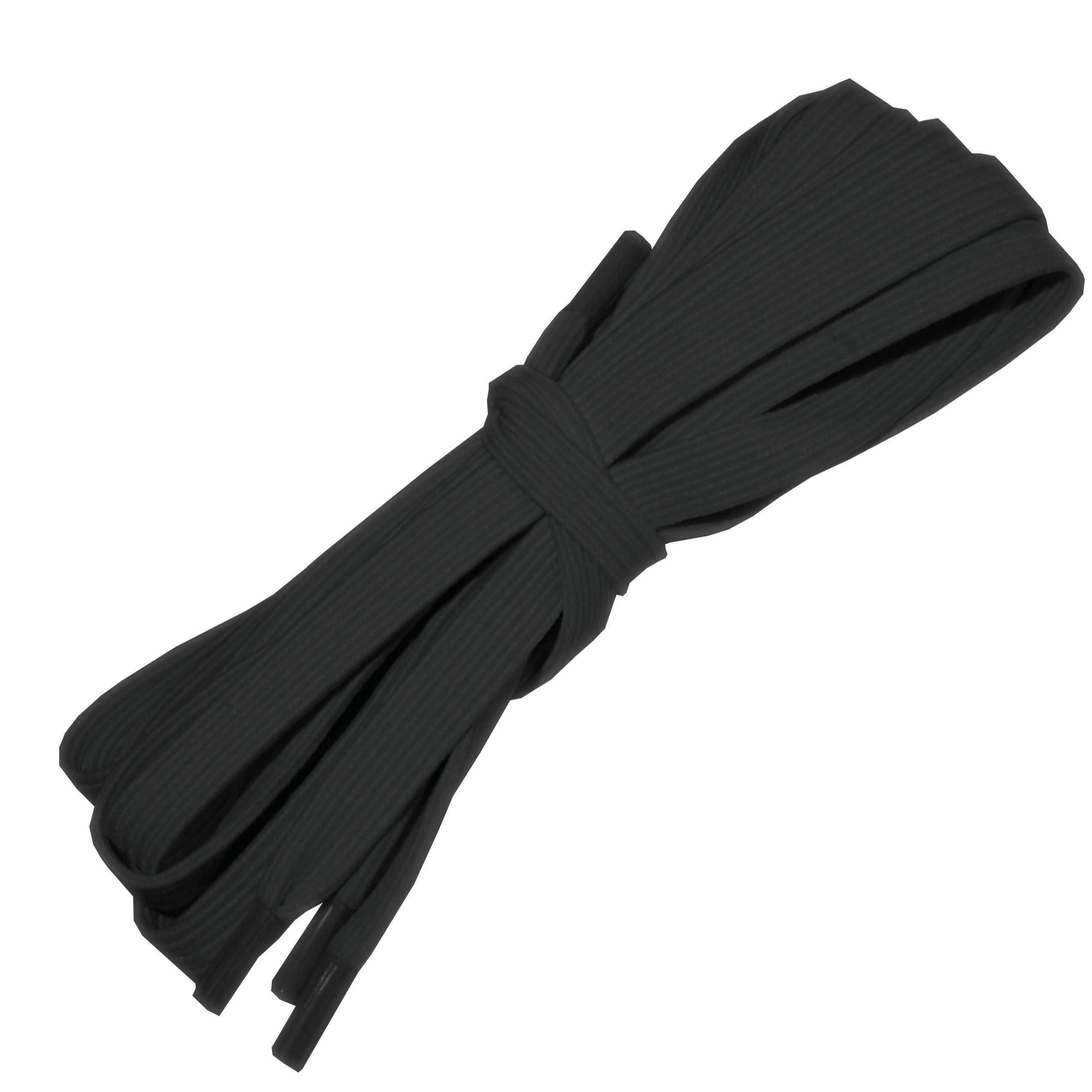 Wide Black Elastic Shoelaces, 26 Inches Long by Rehabilitation Advantage