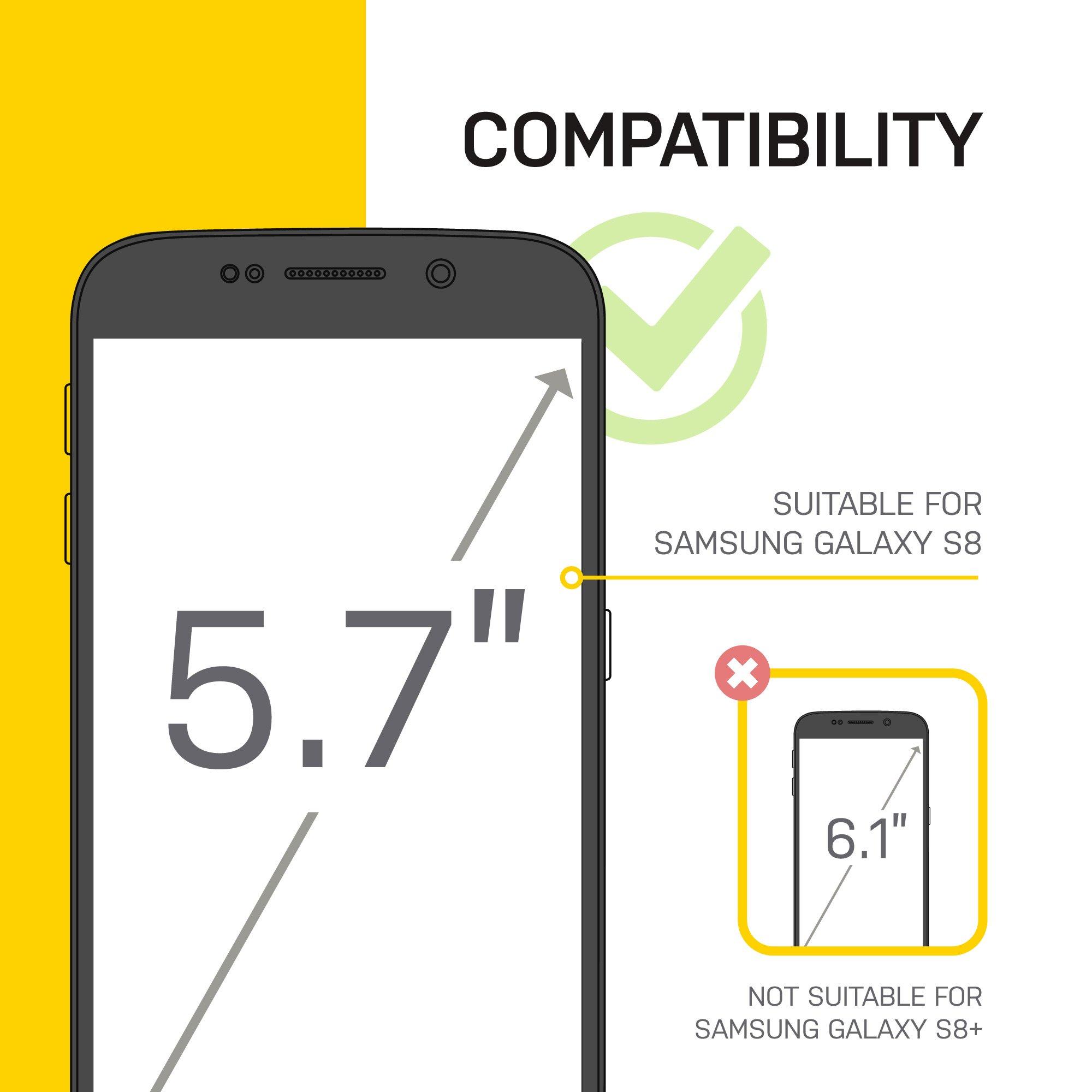 Lifeproof FRĒ SERIES Waterproof Case for Samsung Galaxy S8 (ONLY) - Retail Packaging - ASPHALT (BLACK/DARK GREY) by LifeProof (Image #7)