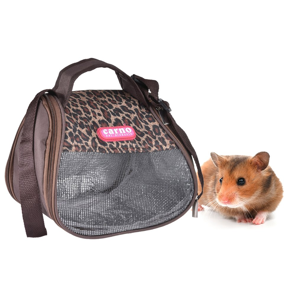 Amazon.com : Hamster Carrier Bag, Yunt Pet Backpack Single-shoulder Bag Outdoor Bag Handbag for Totoro Syrian Hamster Squirrel Mink Coffee : Pet Supplies
