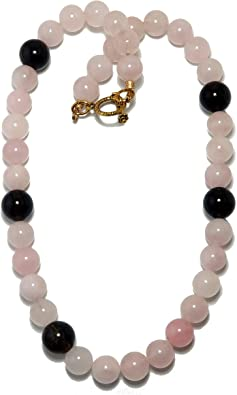 ADMIRABLE-Natural Rose Quartz Tumble Beaded Necklace-AAA+Unconditional Love Stone-Romantic Gift-Party wear Pink Bead jewelry-Nugget Necklace