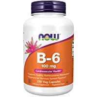NOW Supplements, Vitamin B-6 (Pyridoxine HCl) 100 mg, Cardiovascular Health*, 250...