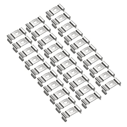 Uxcell 30 Pcs T5 Fluorescent Tube Lamp Bracket Hanger Stainless