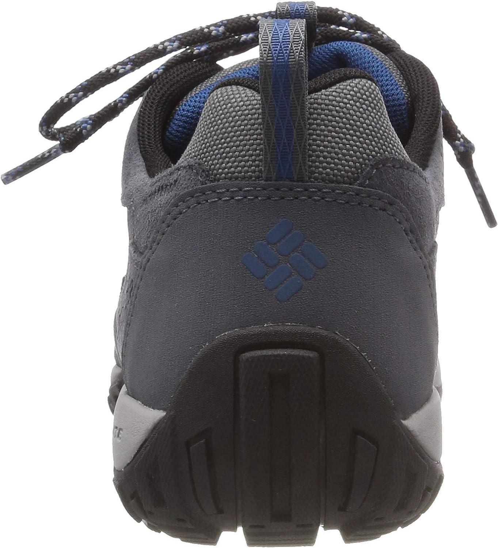 Columbia Peakfreak Venture Mid Suede WP, Chaussures de Randonnée Basses Homme Noir Graphite Phoenix Blue