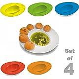 Bulfyss Plastic Plate, Set of 4, Multicolour
