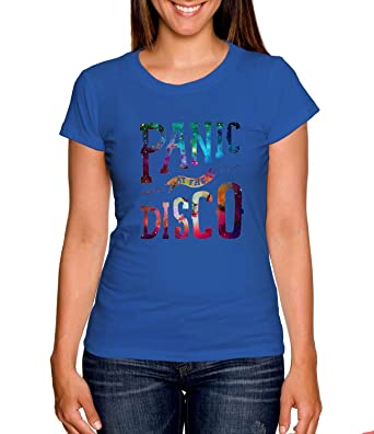 c7c4347f Amazon.com: Panic At The Disco Shirt For T-shirt Women Royal L SF: Clothing