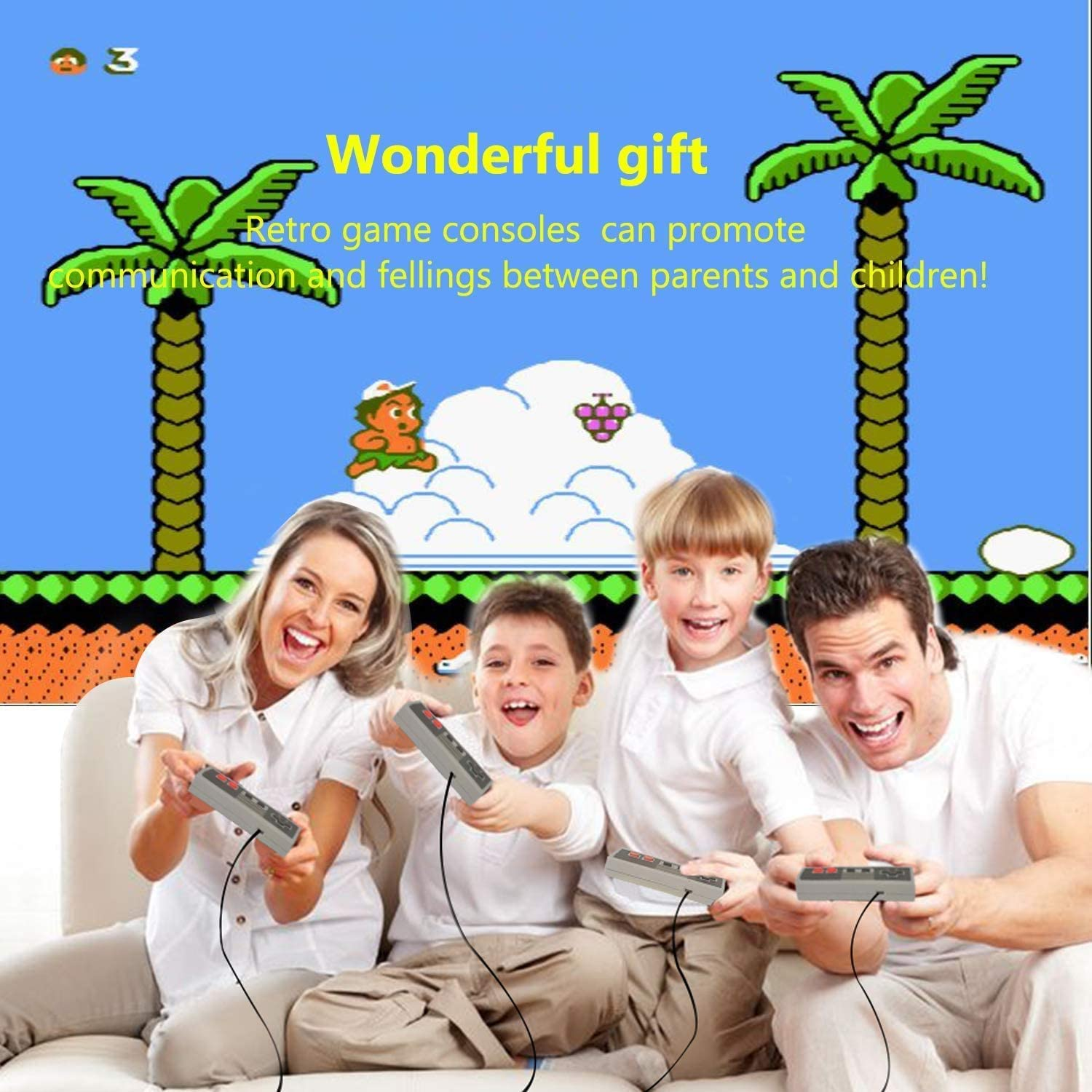 Classic Video Game Console Built-in with 620 Classic Retro Games Dual Players Mode Console and Nostalgic Arcade Games with 2 Controllers Handheld Games for Kids /& Adults Small Classic Mini Console