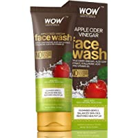WOW Apple Cider Cider Vinegar Face Wash - No Parabens, Sulphate, Silicones & Color - 100mL Tube