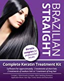 Brazilian Straight, Keratin Home Use Treatment Kit, Salon Quality Hair Straightening/Blow Dry/Smoothing, 100ml, Great Gift/Present