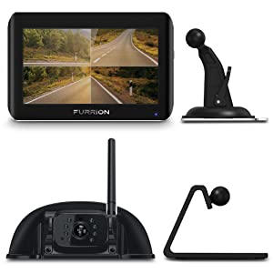 "Furrion FOS07TASF 7"" Vision S Wireless Vehicle Observation System: 7-inch Monitor and 1 Rear Sharkfin Bracket Camera"