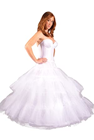 Quinceanera Dresses Hoop Skirt Petticoat With Tulle Crinoline For Full Gown To Show Off Embellishments While