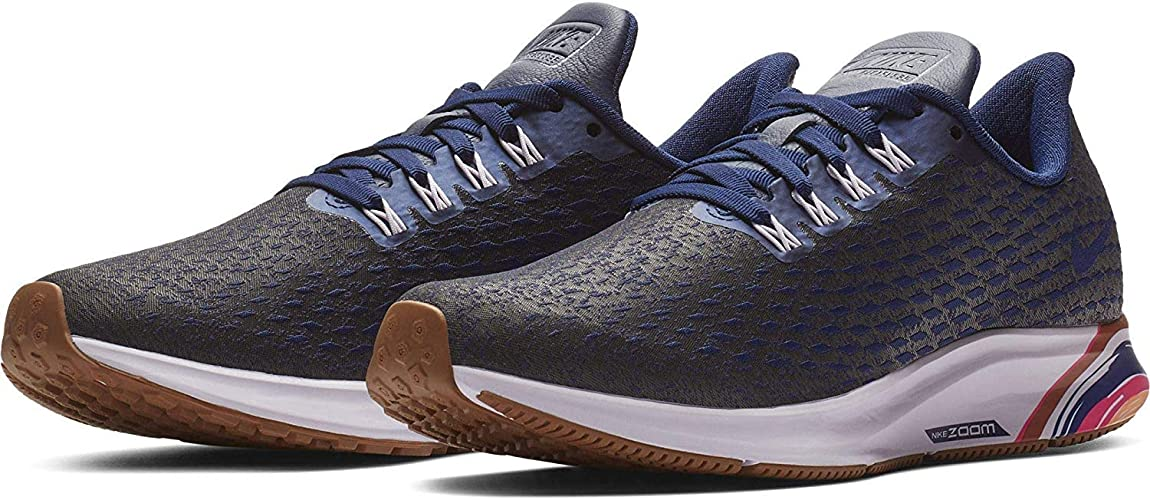 Nike Womens Air Zoom Pegasus 35 Premium Running Shoe,Blue Void ...