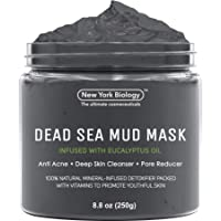 New York Biology Dead Sea Mud Mask for Face and Body Infused with Eucalyptus - Spa Quality Pore Reducer for Acne…