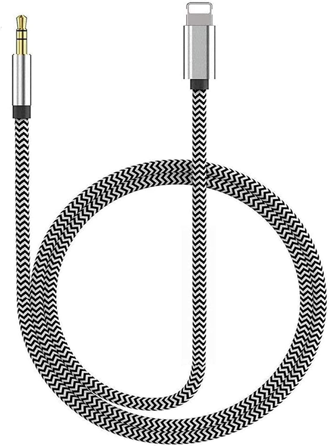 [Apple MFi Certified] Aux Cord for iPhone, Lightning to Aux Cable for Car 3.5mm Jack Auxiliary Cable Compatible with iPhone 12/11/X/Xs/Xr/8/7/iPad Nylon Braided for Headphone,Car/Home Stereo, Speaker