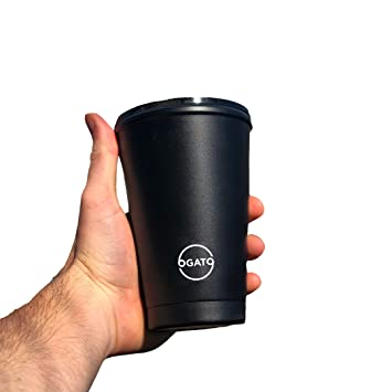 Reusable Eco Coffee Cup 12oz 355ml Portable Double Wall Insulated Thermal Coffee Cup With Lid Keep Your Coffee Hot And Replace Disposable Coffee