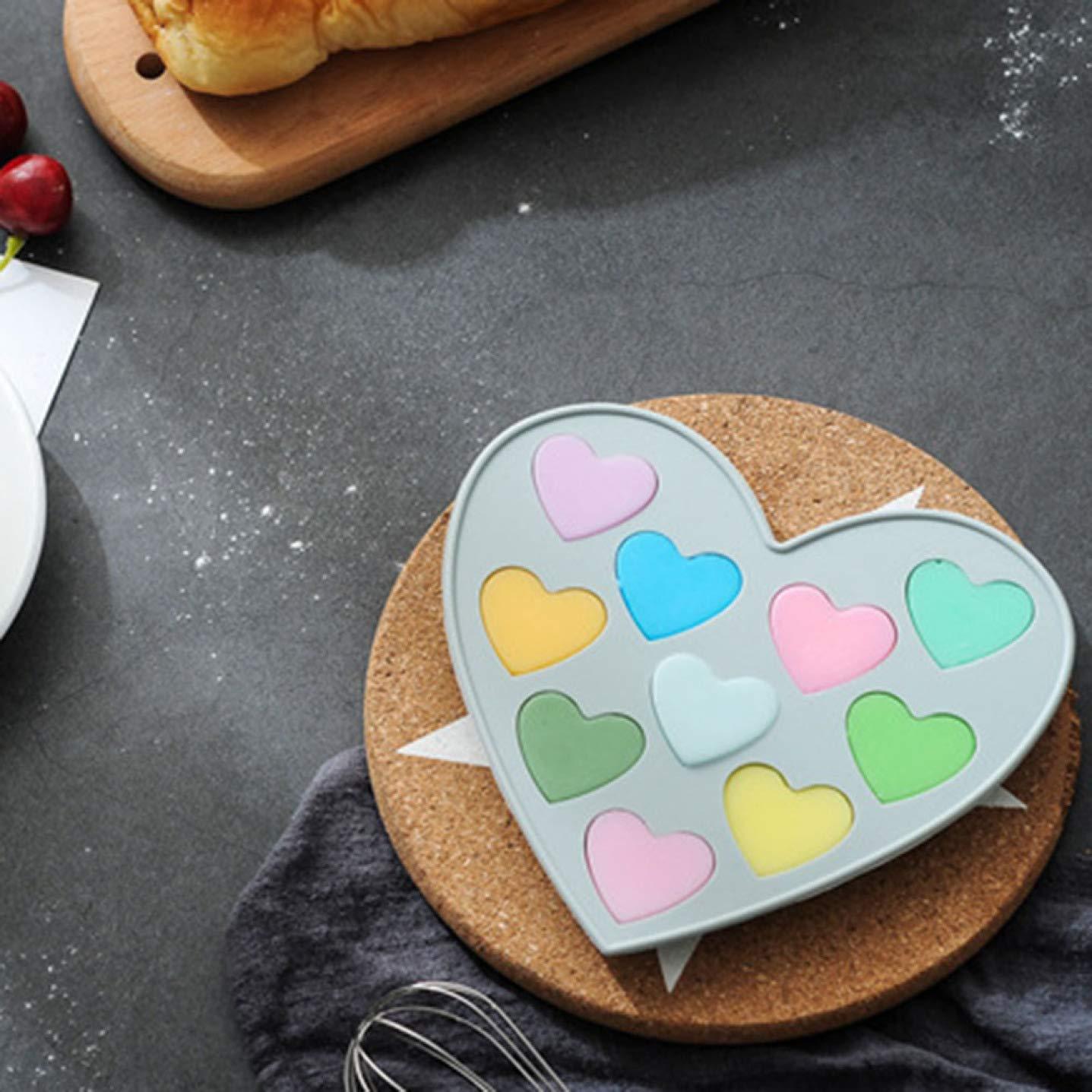 HLifuz Faultless Candy Gussform Tabletts Blau Lebensmittel Qualit/ät Silikon Backform No-Sticky Kuchen Dekoration Form f/ür Mousse,Eiscreme,Schokolade Brownie,K/äsekuchen,Fondant und Mor