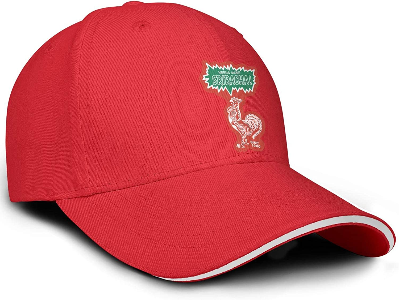 HIRGOEE Mens Woman Sriracha Cap Adjustable Hat Hiking Caps