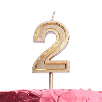 Get Fresh Number 2 Birthday Candle