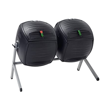 Amazon.com: Por Vida Dual 50 galón compostador, Negro ...