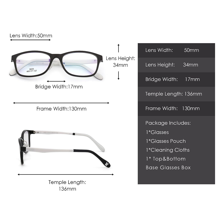 Kids Rectangle Eyeglasses Optical TR Frame Girls Boys Non-Prescription Clear Lens