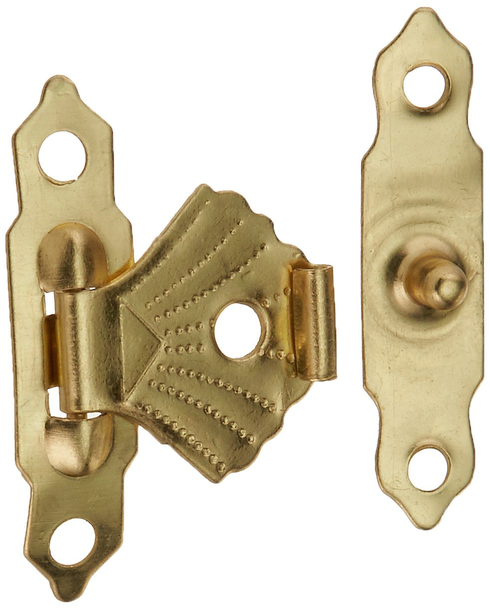 50 pcs Metall Mini Flower Leaf Schmuck Fall Box Lock Haspe Staple Set Sourcingmap a14093000ux0013