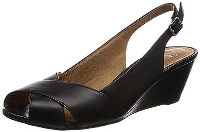 23f8c6b99c76 Clarks Women s Brielle Kae Black Leather Fashion Sandals - 6 UK India (39.5  EU