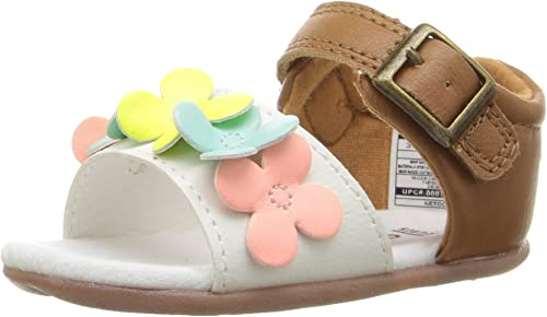 Carter/'s Every Step Stage 2 Girl/'s Standing Shoe White//Brown 3.5 M US Toddler