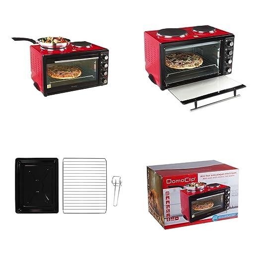Mini horno con Cocción 3300 W Mini Cocina hobs Rojo camping de ...