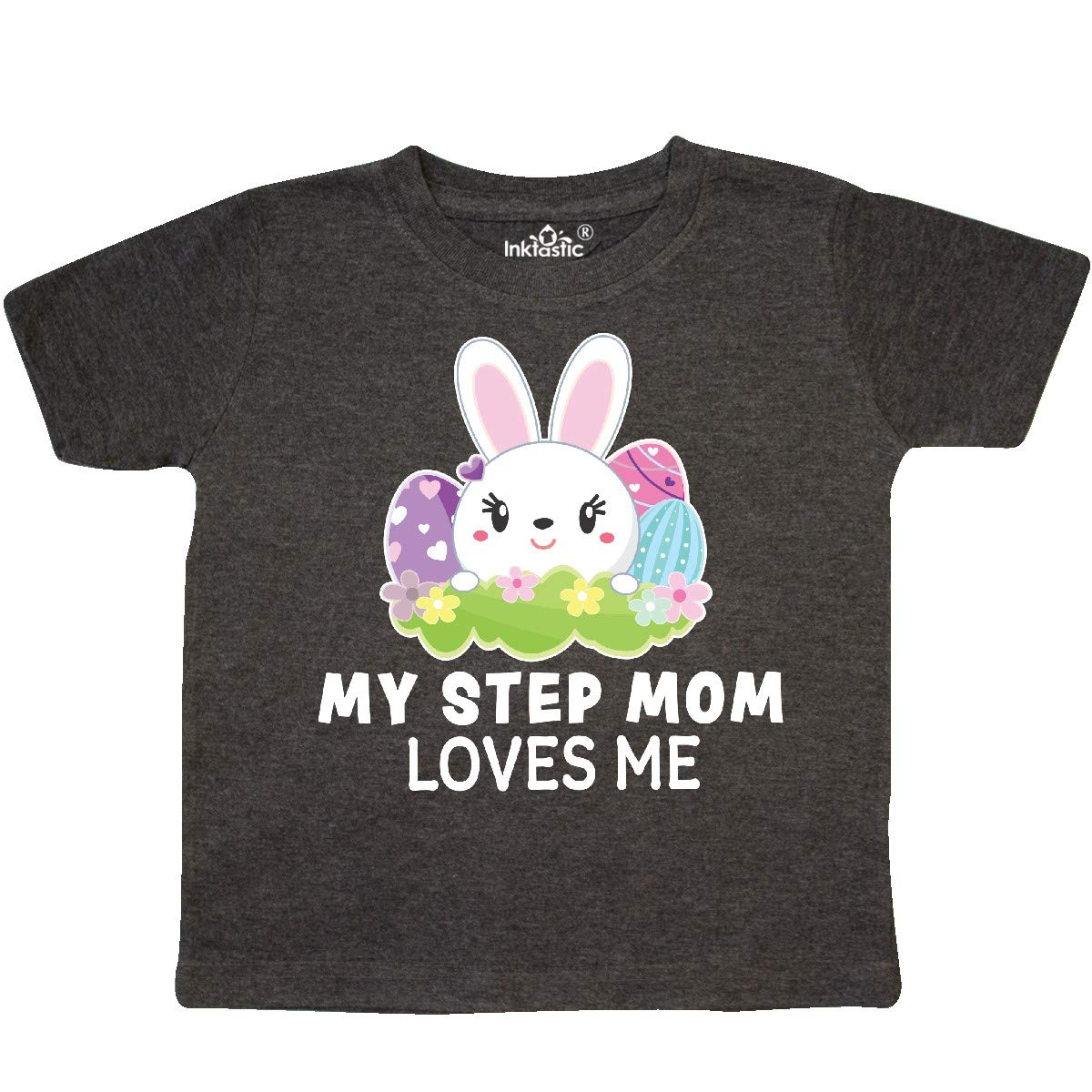 inktastic My Grandma Loves Me with Bunny and Easter Eggs Baby T-Shirt