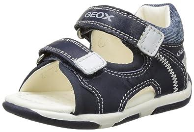 Geox B Sandal Agasim Boy A, Chaussures Marche Bébé Garçon, Bleu (Navy/WHITEC4211), 22 EU
