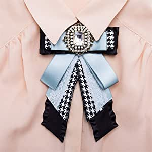 Lady Bow Corbatas Las mujeres de cristal Premium Pearl Bow Broche ...