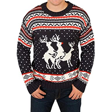 Rockberry Funny Ugly Christmas Sweater Party Humping Reindeer