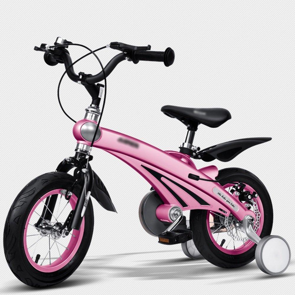 YANGFEI 子ども用自転車 子供の自転車のサイズオプション12インチ14インチ16インチブルーピンクイエローシャンパンゴールド 212歳 B07H5RSTZL  Pink 16 inch