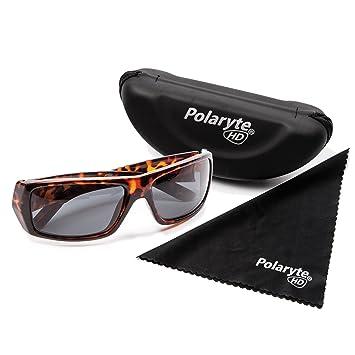 Polaryte HD – Gafas de sol polarizadas, visión de alta definición, UVA UVB UV400, marrón: Amazon.es: Deportes y aire libre