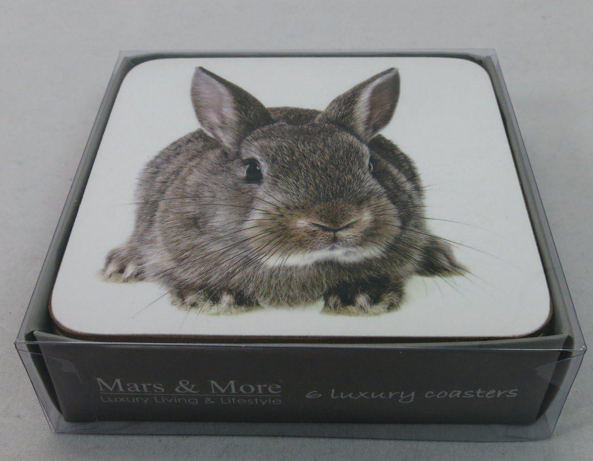 Mars /& More 6er Set Dessous de Verre Liège lapin Luxury Coaster Verres Verre