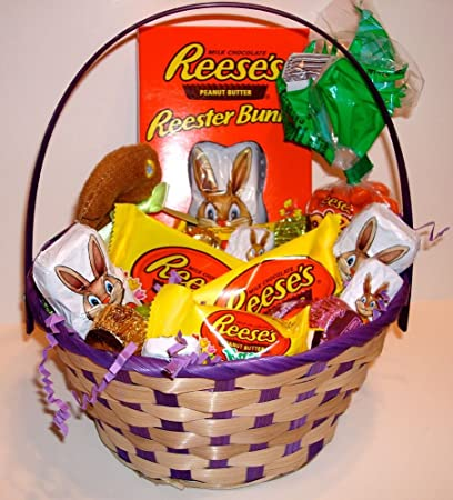 Reeses Easter Basket Fill With Peanut Butter Eggs And Bunnies