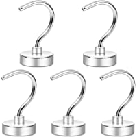 Neosmuk NMH26 Magnetic Hooks, Powerful Heavy Duty CNC Machined Steel Base with 3 Layers' Ni Strong Corrosion Protection…